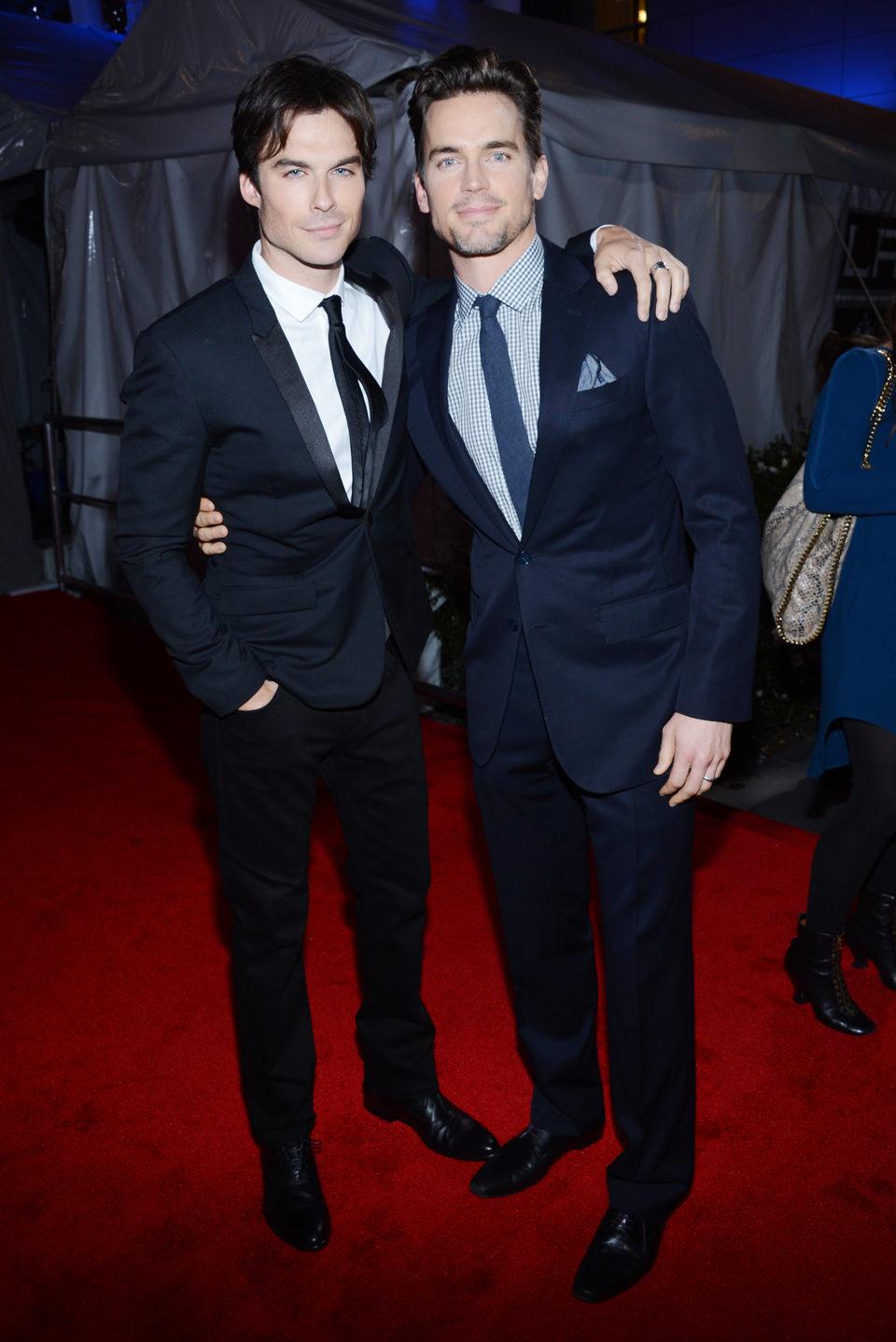 Ian Somerhalder y Matt Bomer en la gala de los People's Choice Awards 2013
