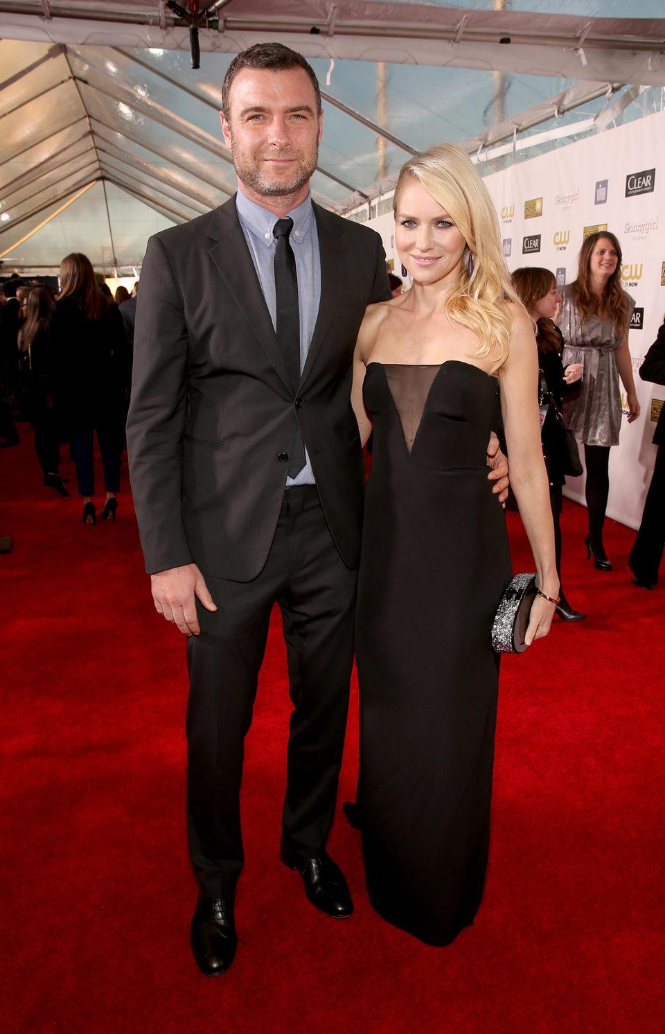 Liev Schreiber y Naomi Watts en los Critics' Choice Movie Awards 2013
