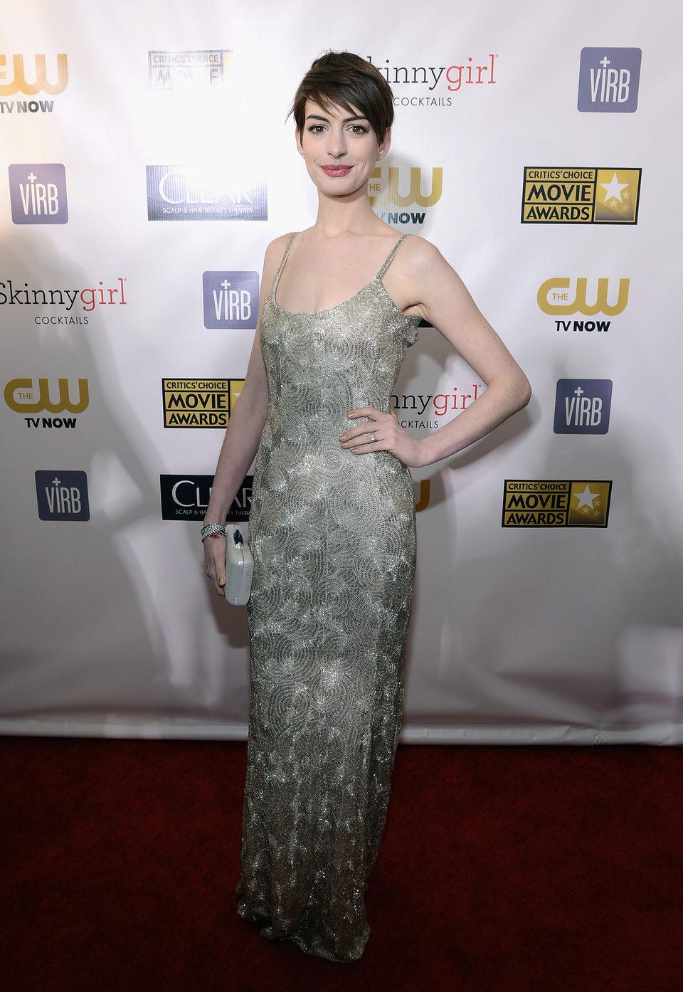 Anne Hathaway en la gala de los Critics' Choice Movie Awards 2013