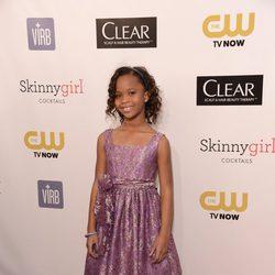 Quvenzhané Wallis en la gala de los Critics' Choice Movie Awards 2013