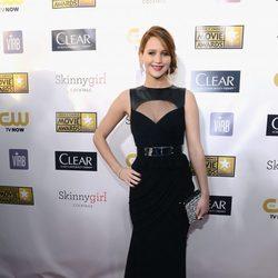 Jennifer Lawrence en la gala de los Critics' Choice Movie Awards 2013
