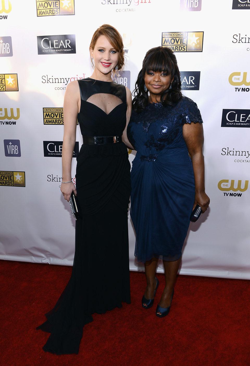Jennifer Lawrence y Octavia Spencer en los Critics' Choice Movie Awards 2013
