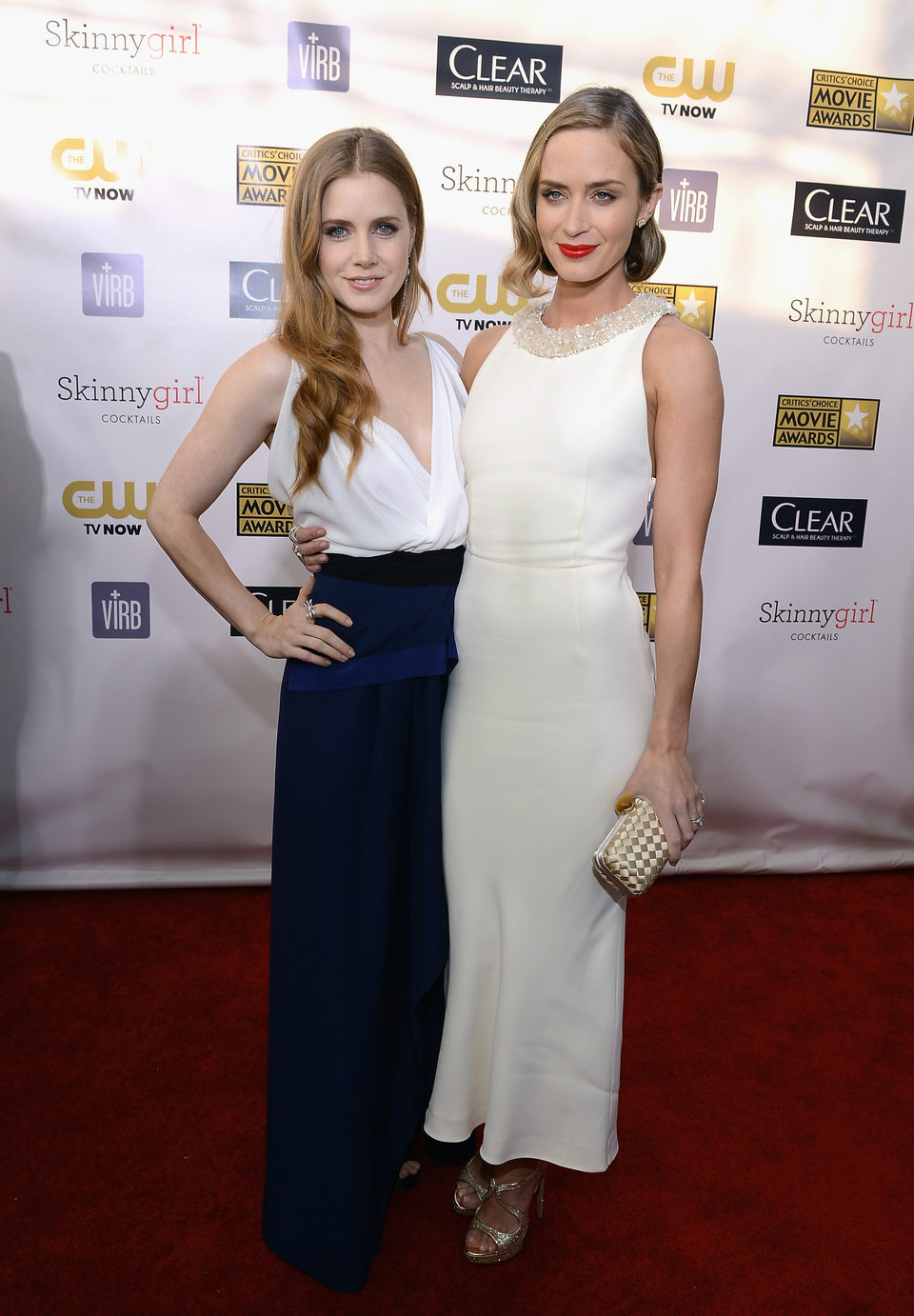 Amy Adams y Emily Blunt en la gala de los Critics' Choice Movie Awards 2013