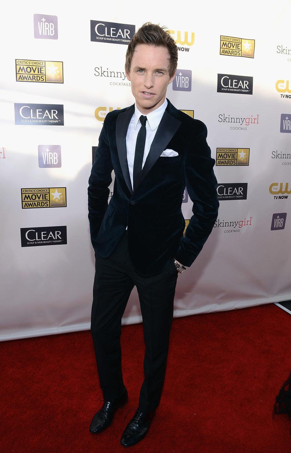 Eddie Redmayne en la gala de los Critics' Choice Movie Awards 2013