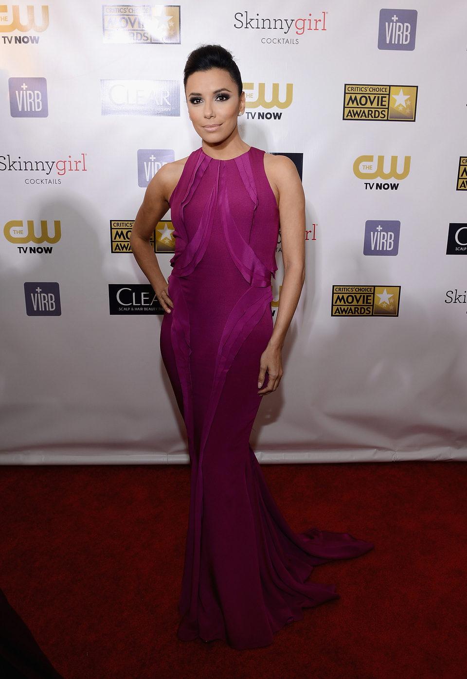 Eva Longoria en la gala de los Critics' Choice Movie Awards 2013