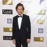 Matthew McConaughey en la gala de los Critics' Choice Movie Awards 2013