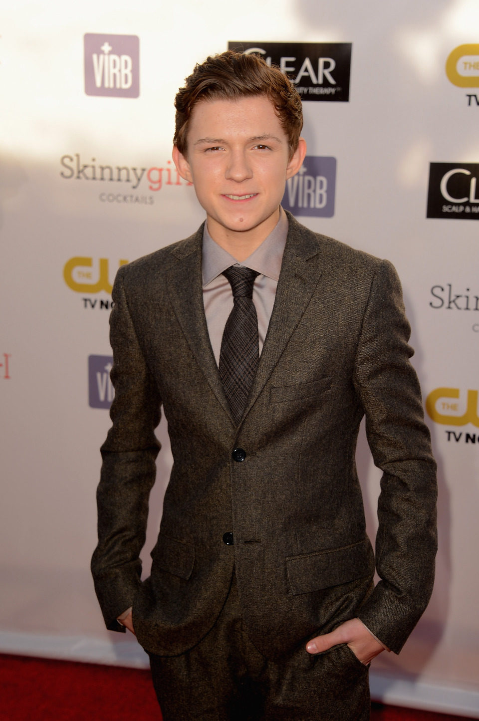 Tom Holland en la gala en los Critics' Choice Movie Awards 2013