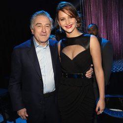Robert De Niro y Jennifer Lawrence en la gala de los Critics' Choice Movie Awards 2013