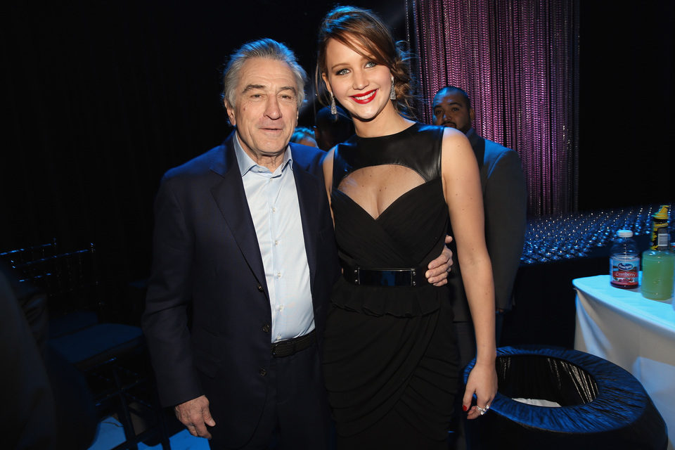 Robert De Niro y Jennifer Lawrence en la gala de los Critics' Choice Movie Awards 2013