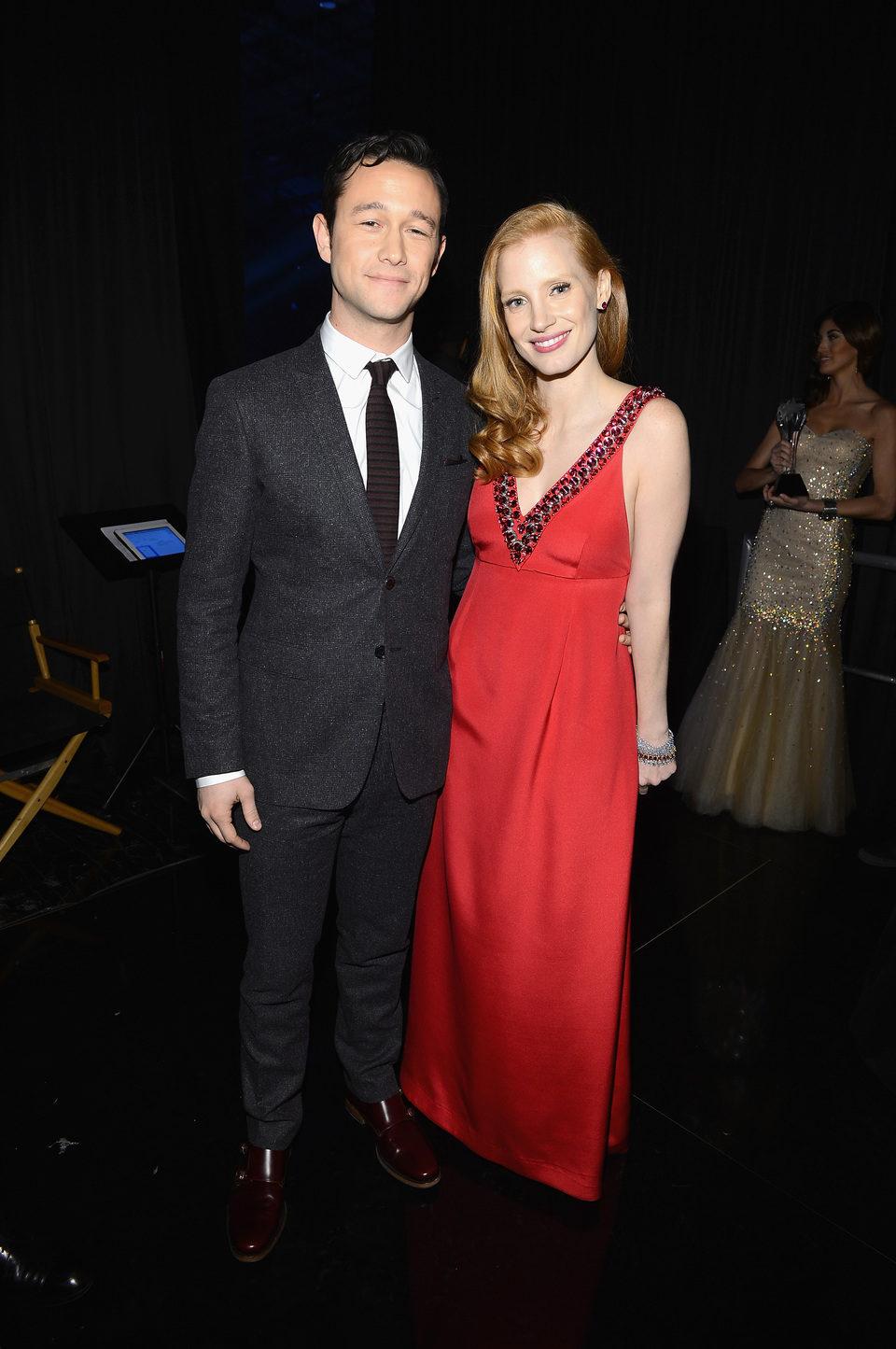 Joseph Gordon-Levitt y Jessica Chastain en la gala de los Critics' Choice Movie Awards 2013