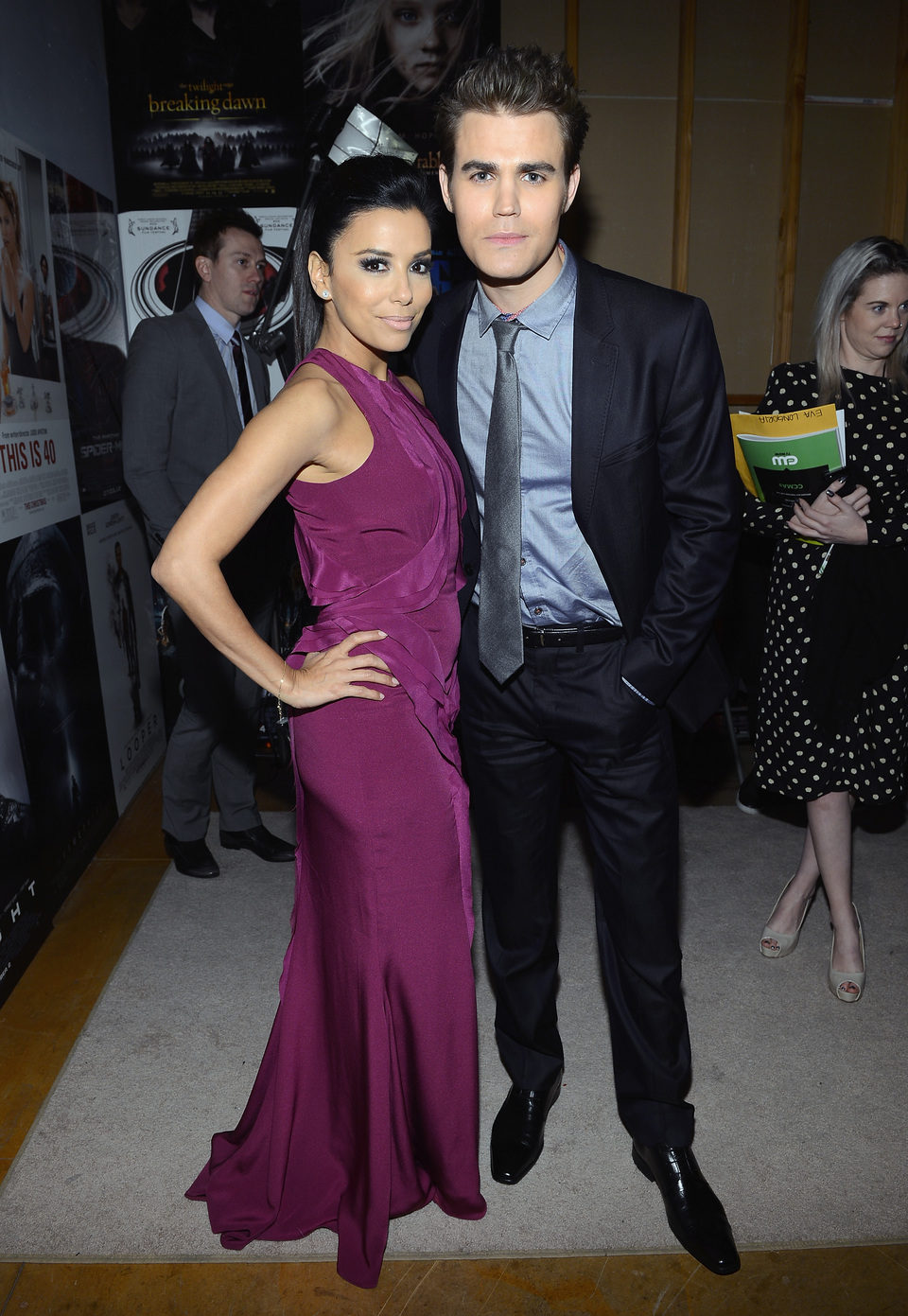 Eva Longoria y Paul Wesley en la gala de los Critics' Choice Movie Awards 2013
