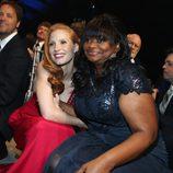 Jessica Chastain y Octavia Spencer en la gala de los Critics' Choice Movie Awards 2013
