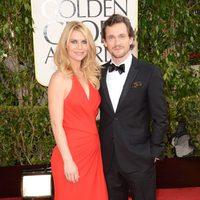 Claire Danes y su marido en los Globos de Oro 2013