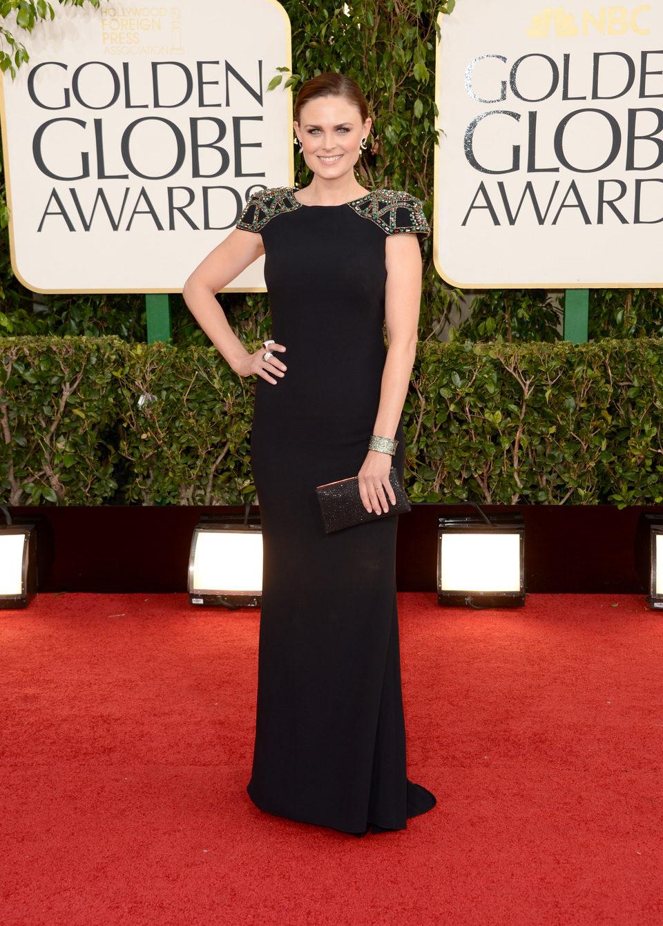 Emily Deschanel en los Globos de Oro 2013