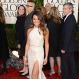 Lea Michele en la alfombra roja de los Globos de Oro 2013