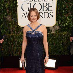 Jodie Foster en la alfombra roja de los Globos de Oro 2013