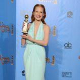 Jessica Chastain, Mejor actriz de drama por 'La noche más oscura' en los Globos de Oro 2013