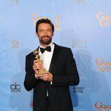 Hugh Jackman, Mejor actor de comedia por 'Los miserables' en los Globos de Oro 2013