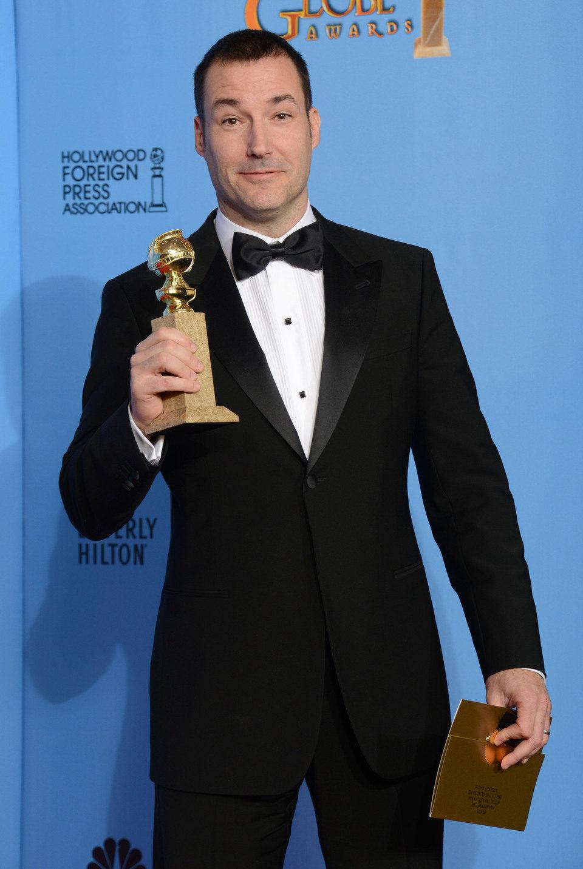 El director de 'Brave' Mark Andrews recoge el Globo de Oro 2013 a Mejor película animada