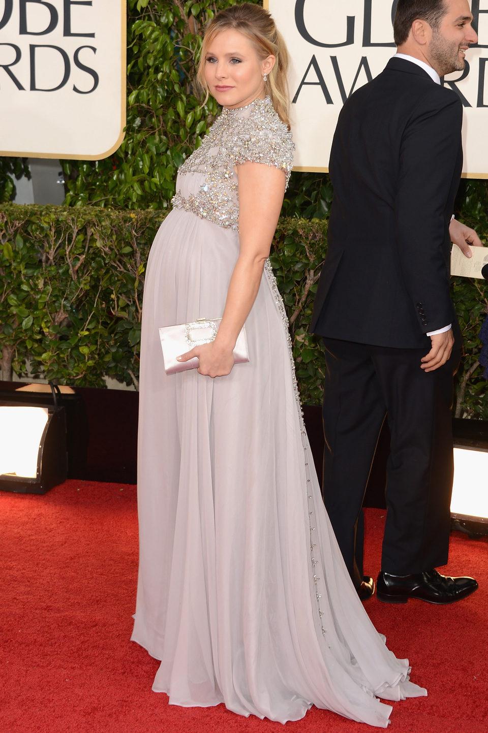 Kristen Bell en los Globos de Oro 2013