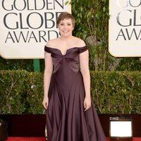 Lena Dunham en la alfombra roja de los Globos de Oro 2013