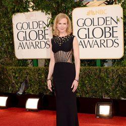 Nicole Kidman en la alfombra roja de los Globos de Oro 2013