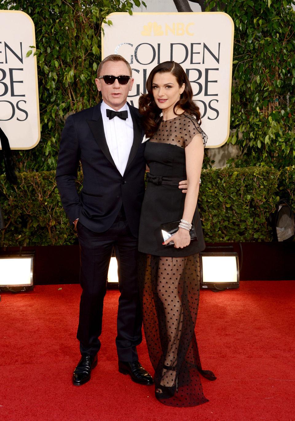 Daniel Craig y Rachel Weisz en la alfombra roja de los Globos de Oro 2013