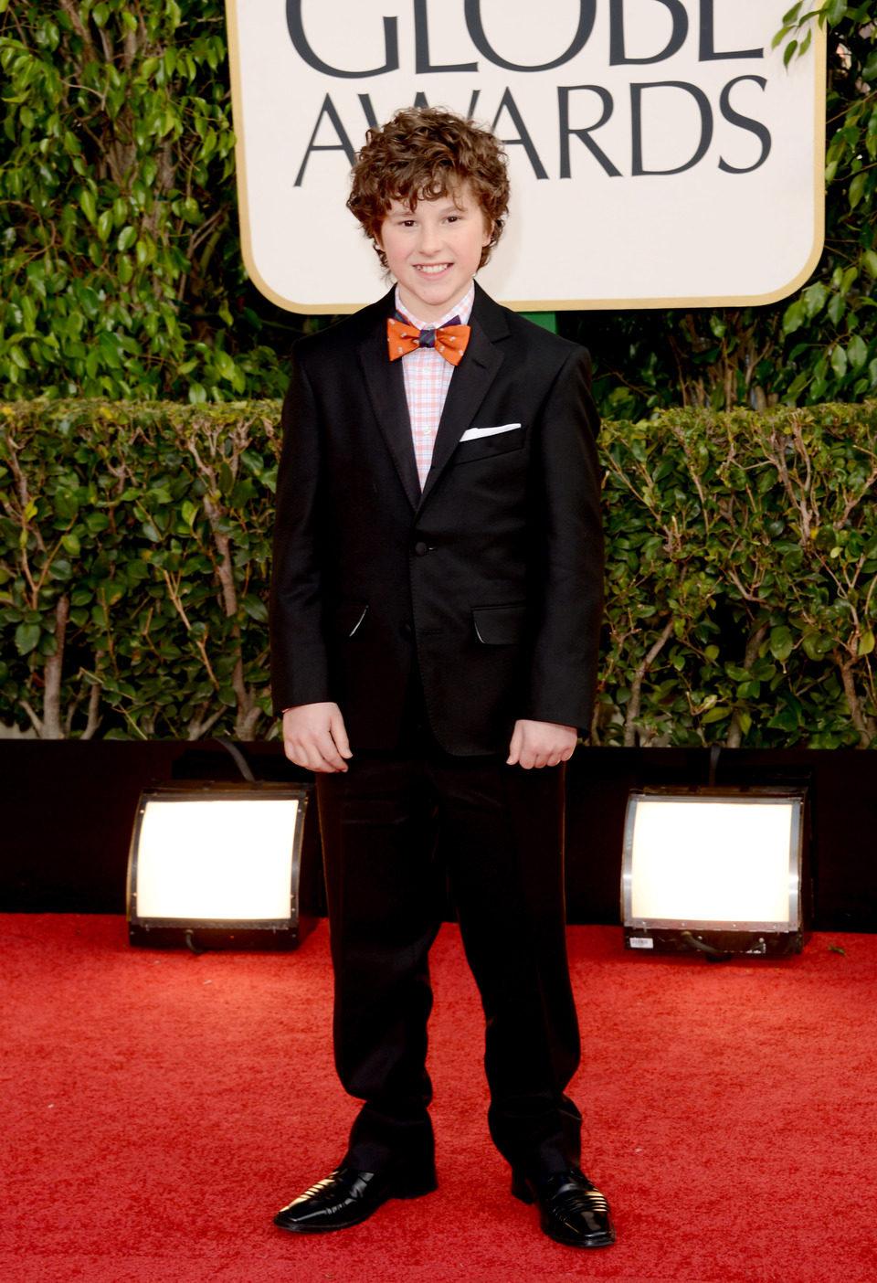 Nolan Gould en los Globos de Oro 2013