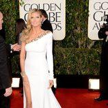 Heidi Klum en la alfombra roja de los Globos de Oro 2013