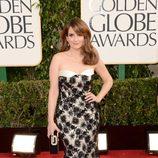 Tina Fey en la alfombra roja de los Globos de Oro 2013