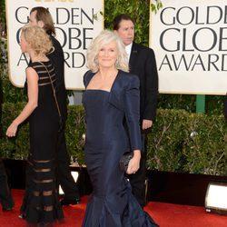 Glenn Close en la alfombra roja de los Globos de Oro 2013