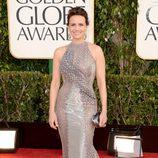 Carla Gugino en la alfombra roja de los Globos de Oro 2013