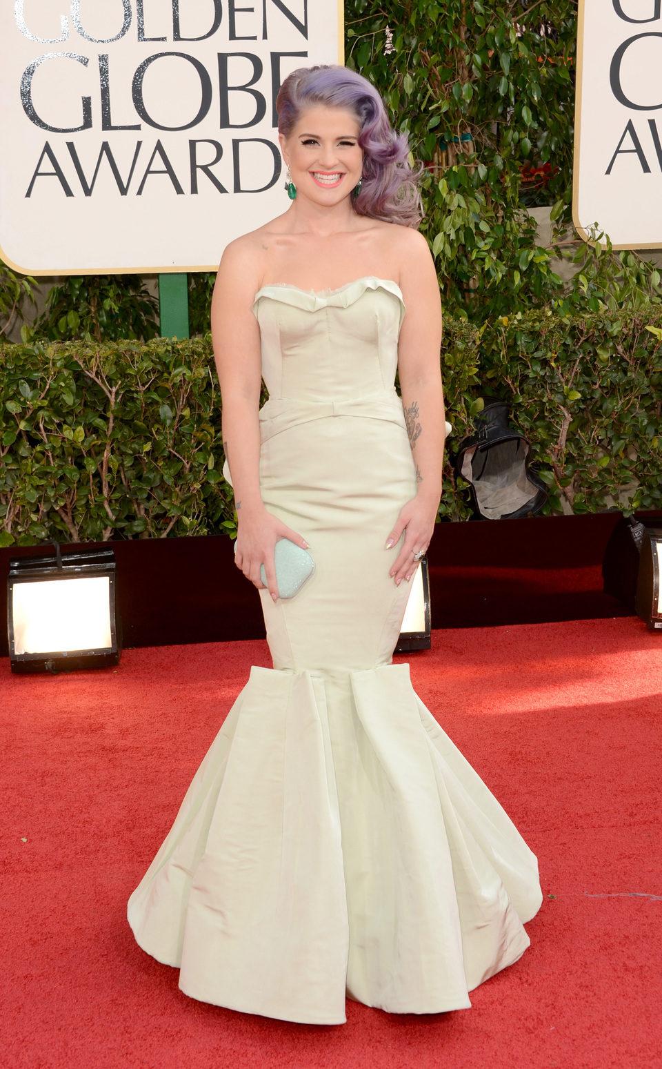 Kelly Osbourne en la alfombra roja de los Globos de Oro 2013