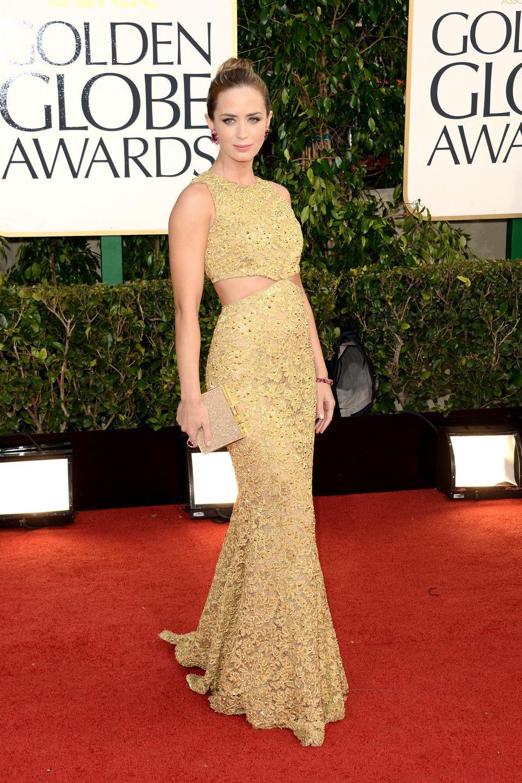 Emily Blunt en los Globos de Oro 2013