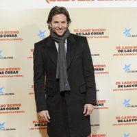 Bradley Cooper en la premiere de 'El lado bueno de las cosas' en Madrid
