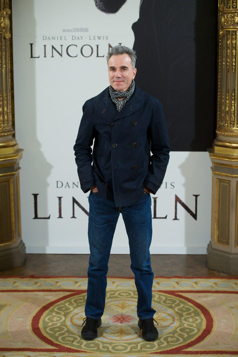 Daniel Day-Lewis en la presentación de 'Lincoln' en Madrid