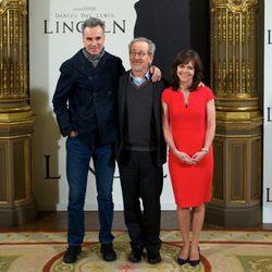 Steven Spielberg, Daniel Day-Lewis y Sally Field presentan 'Lincoln' en Madrid
