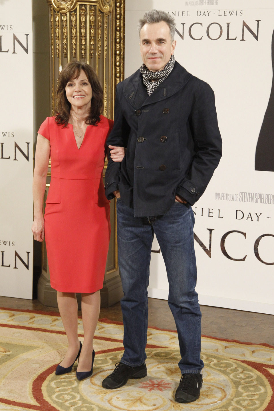 Daniel Day-Lewis y Sally Field en la presentación de 'Lincoln' en Madrid