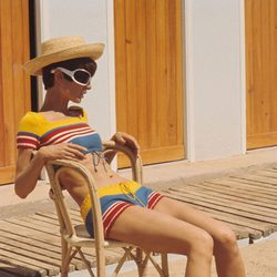 Audrey Hepburn en el rodaje de 'Dos en la carretera', 1967