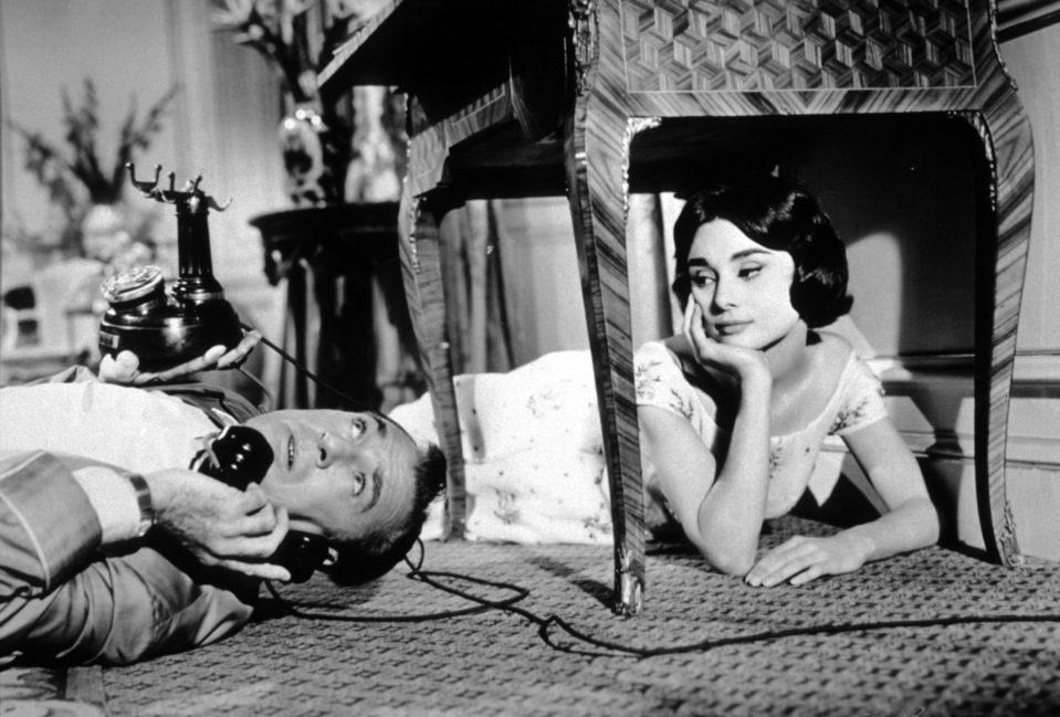 Audrey Hepburn junto a Gary Cooper en 'Ariane'