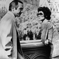 Audrey Hepburn con Ben Gazzara en 'Todos rieron', 1981