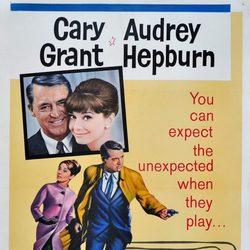 Audrey Hepburn en el cartel de 'Charada'