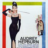 Audrey Hepburn en el cartel de 'Desayuno con diamantes'
