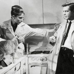 Audrey Hepburn junto a George Peppard en 'Desayuno con diamantes'
