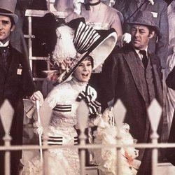 Audrey Hepburn en la escena de las carreras en 'My Fair Lady', 1964