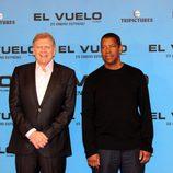 Robert Zemeckis y Denzel Washington presentan 'El vuelo' en Madrid