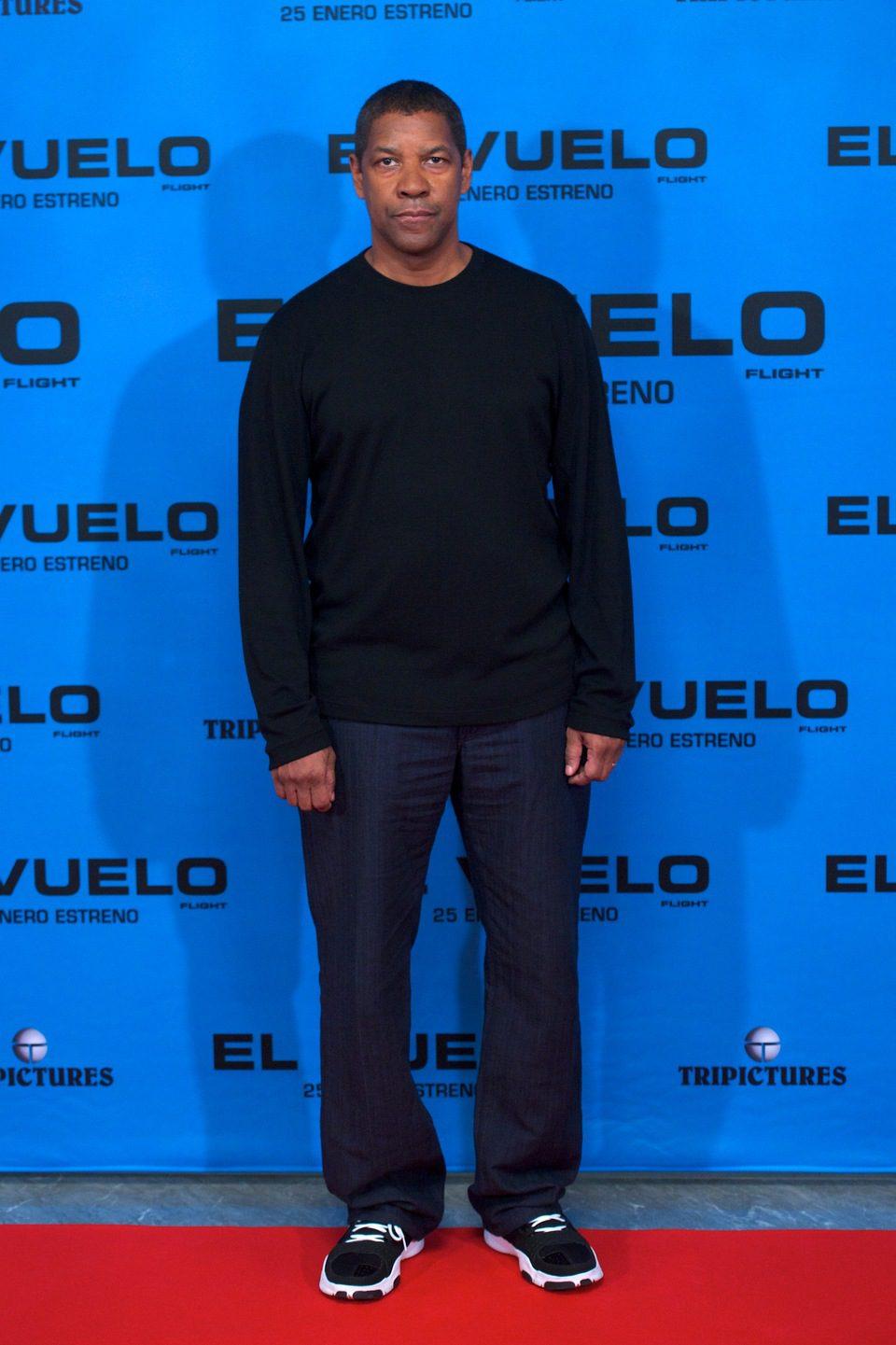 Denzel Washington en la presentación de 'El vuelo' en Madrid
