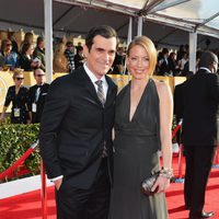 Ty Burrell y Holly Burrell en la alfombra roja de los Screen Actors Guild Awards 2013