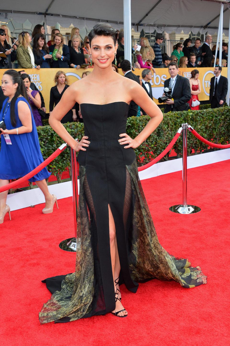Morena Baccarin en la alfombra roja de los Screen Actors Guild Awards 2013