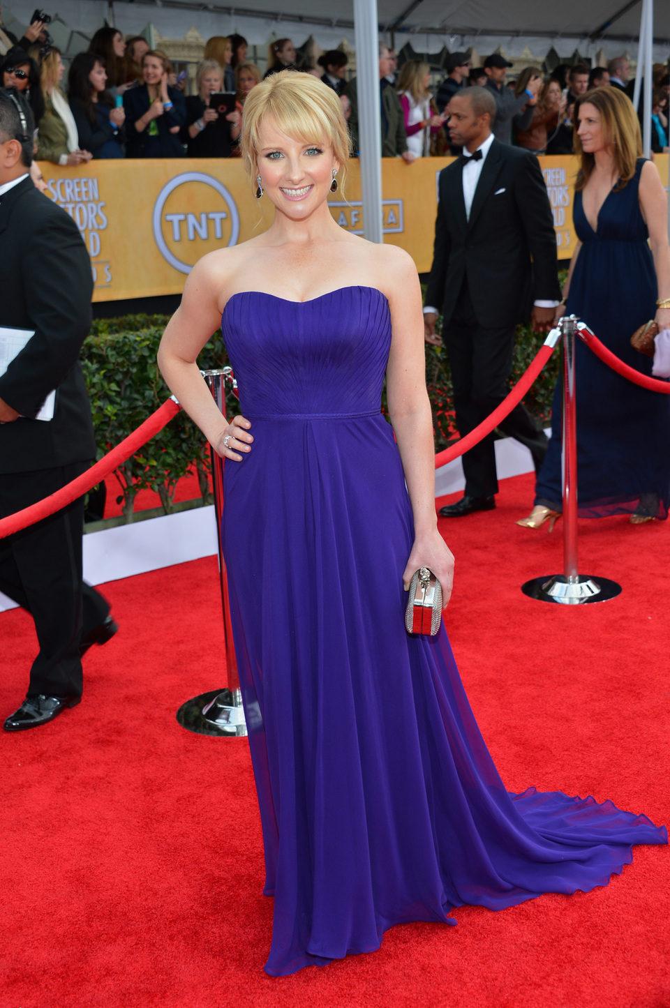 Melissa Rauch en la alfombra roja de los Screen Actors Guild Awards 2013
